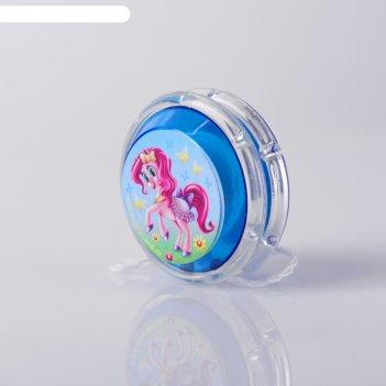 Йо йо пони+ шарики внутри, d=4,7 см цвета микс