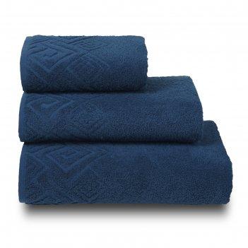 Полотенце махровое poseidon пл-2601-04000 1сорт цв. 352 синий, 50х90 хл.10