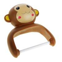 Держатель для туалетной бумаги обезьянка, на присосках