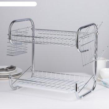 Сушилка для посуды 40х23.5х34 см стойка, р-образная