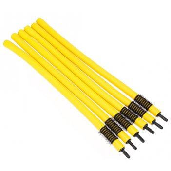 Бигуди-бумеранги dewal beauty d10ммx240мм(6шт) желтые