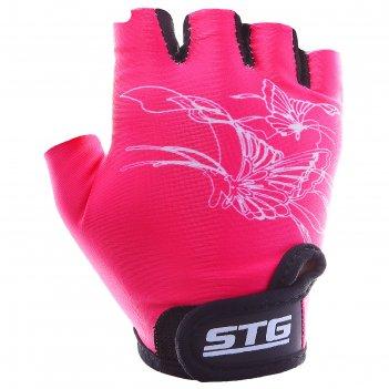 Перчатки велосипедные детские, размер xs, цвет розовый