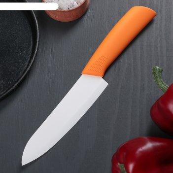 Нож керамический, лезвие 15 см, цвет микс