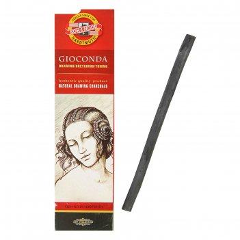 Уголь натуральный koh-i-noor gioconda 8622, 8.0-9.0 мм, картонная упаковка