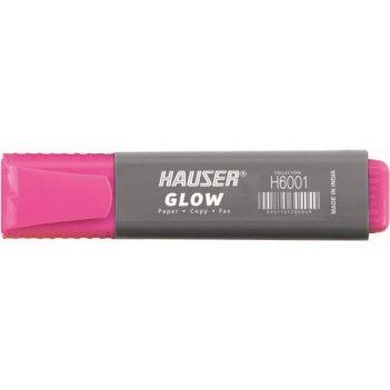 Текстовыделитель hauser glow, цвет розовый