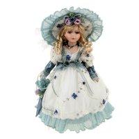 Кукла коллекционная лидия с зонтиком 30 см