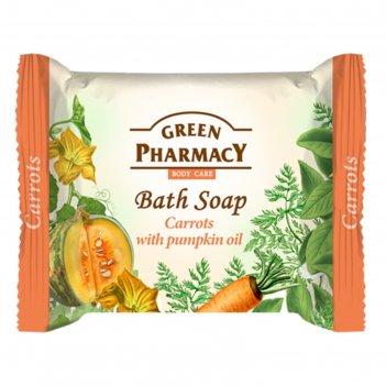 Туалетное мыло green pharmacy «морковь», с маслом тыквы, 100 г