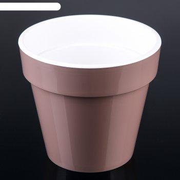 Кашпо со вставкой 3,5 л порто, цвет мокко