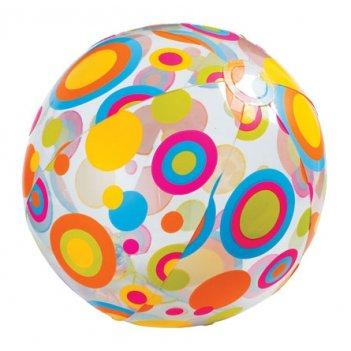 Мяч надувной intex 59040 ливели 51см