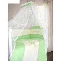 Комплект в кроватку абэль (7 предметов), цвет зелёный 1124