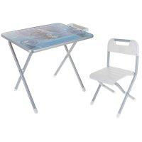 Набор детской мебели дэми №1. холодное сердце складной: стол, стул и пенал