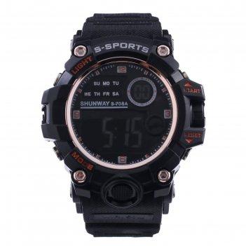Часы наручные электронные shunway s-708a, d=4.5 см