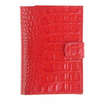 Обложка для документов водителя o-178 + паспорт с застежкой/o-178 (красный