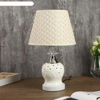 Лампа настольная адонис e27 40w низ с подсветкой микс 25х25х41 см