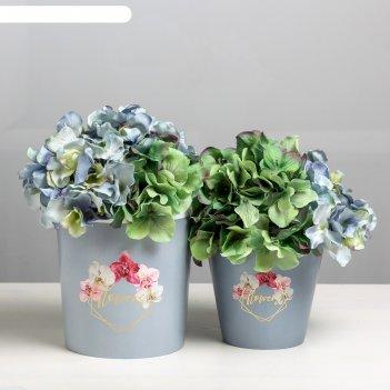 Набор кашпо 2 в 1 flowers, тиснение, 0,8 и 1,6 л