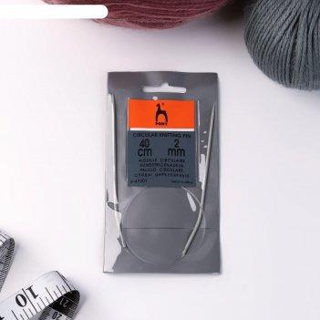 Спицы для вязания, круговые, с пластиковой леской, d = 2 мм, 40 см