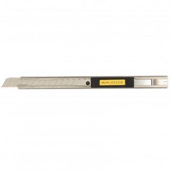Нож olfa ol-svr-1, с выдвижным лезвием, нержавеющая сталь, 9 мм