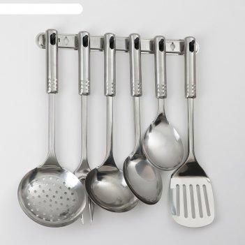 Набор кухонных принадлежностей на подвесе «стандарт», 6 предметов