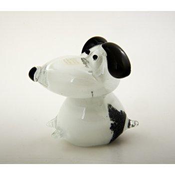 476.h собака средняя, чёрно-белая 9 х 10 х 9