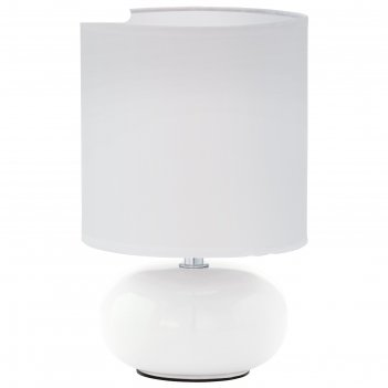 Настольная лампа trondio 1x40вт e14 белый 15x15x27см