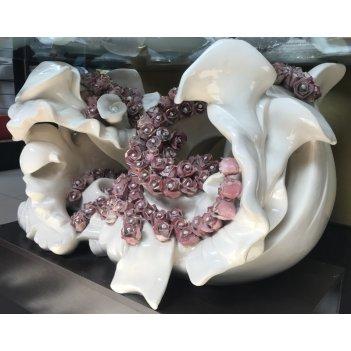 Стол кофейный цветы(камни сваровски)