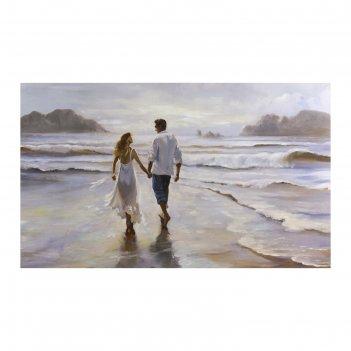 Картина на холсте влюблённые на берегу