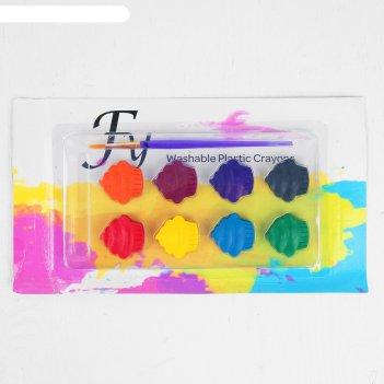 Акварельные карандаши пироженки, 8  цветов, кисть