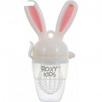 Ниблер для прикорма bunny twist, силикон, цвет розовый roxy-kids