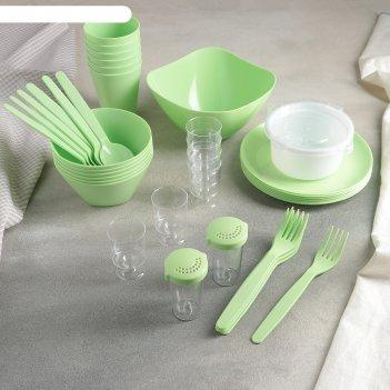 Набор для пикника party, цвет салатный