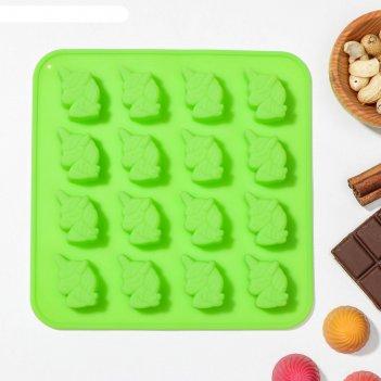 Форма для льда и шоколада 16 ячеек единорог 18x18x1 см, цвета микс