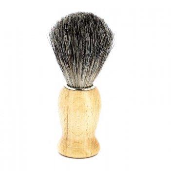 Помазок для бритья mondial, дерево, ворс барсука, рукоять - цвет - светлое