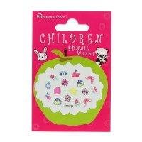 Наклейки для ногтей детские гламур, разноцветные