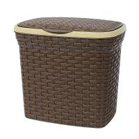 Контейнер для стирального порошка 10 л ротанг, цвет коричневый