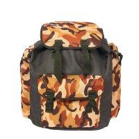 Рюкзак туристический, 1 отдела на клапане, 3 наружных кармана, камуфляж