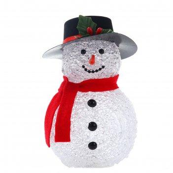 Фигура акрил. снеговик 16х10см, led (батарейки ааа lr44 3 шт.) белый