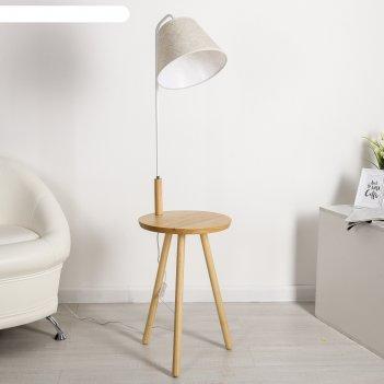 Торшер напольный со столиком ретро е27 40w 38х38х143 см