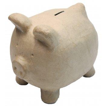 Свинка-копилка из папье-маше, 26 х 19.5 х 22.5 см