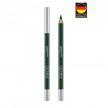 Карандаш для глаз demini make up eye pencil, № 05 carbon green, графитово-