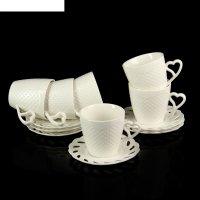 Сервиз кофейный листопад, 12 предметов: 6 чашек 200 мл, 6 блюдец 12,5 см