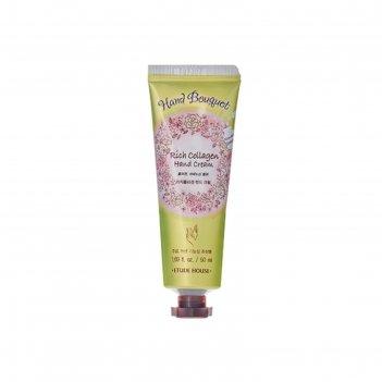 Крем для рук etude house hand bouquet rich collagen hand cream с коллагено