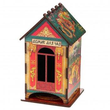 Чайный домик китайский стиль, 9,8x9,8x17,4 см