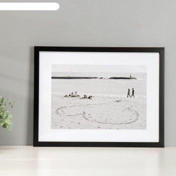 Постер пластик пляж 30х40 см