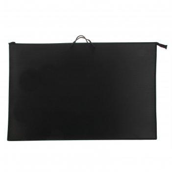 Папка а1 с ручками пластиковая 900х655х50 мм, карман внутри, чёрная