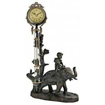 Скульптурные часы восток французская бронза br-550119
