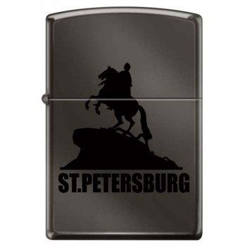 Зажигалка глянцевая zippo 150 st petersburg