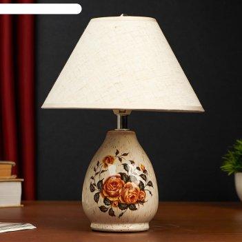 Настольная лампа 25160/1 1хе14 40вт бежевый 20х28 см