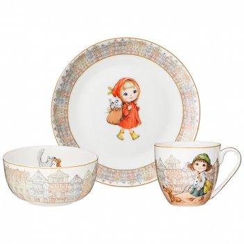 Набор посуды обеденный lefard fashion princess 3 пр. (кор=12наб.)
