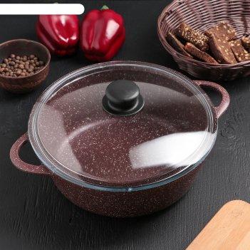 Жаровня «шоколад», 26x9,5 см, стеклянная крышка