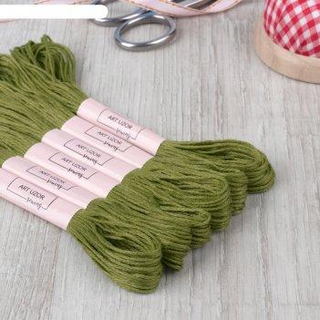 Нитки мулине 8±1м №470 (фас 6шт цена за шт) оливковый ау