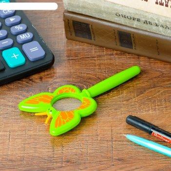 Лупа 3х d=3.5 см, детская, в форме насекомых, компас, длинная ручка, микс